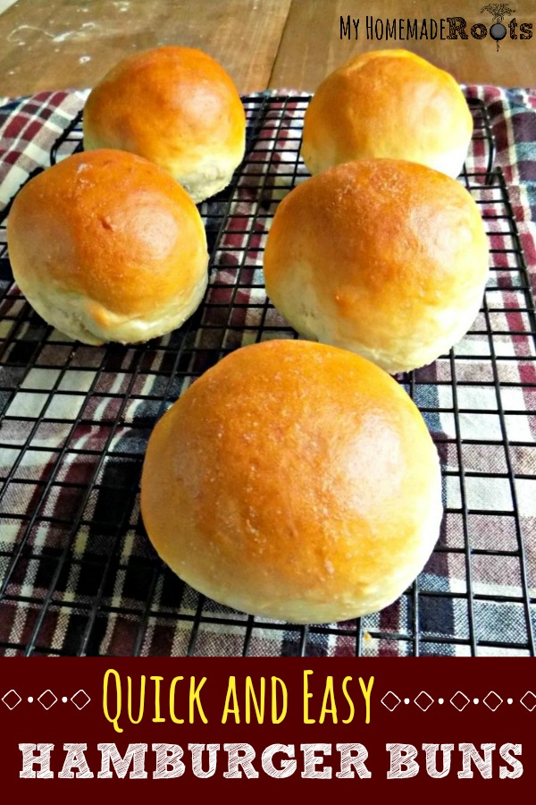 Quick and Easy Homemade Hamburger Buns
