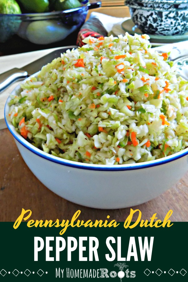 Pennsylvania Dutch Pepper Cabbage Slaw