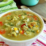 Pennsylvania Dutch Chicken Corn Soup with Rivels - a Pennsylvania Dutch Recipe