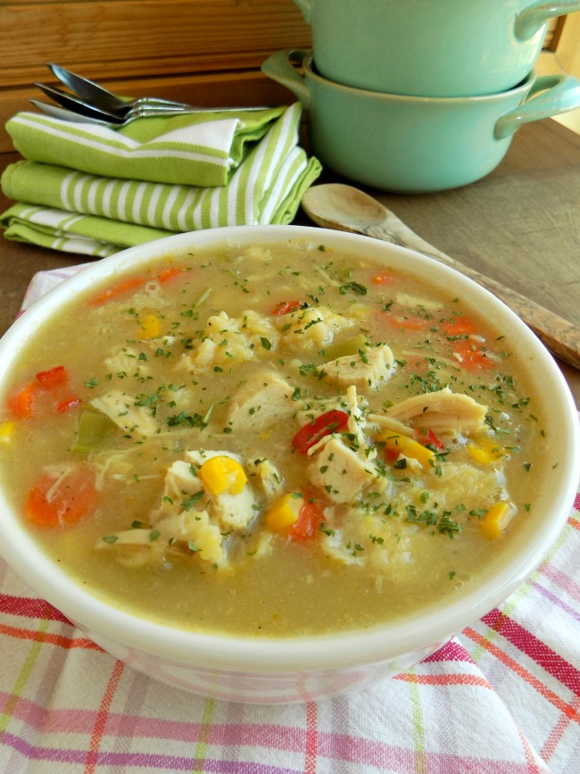 Pennsylvania Dutch Chicken Corn Soup with Rivels