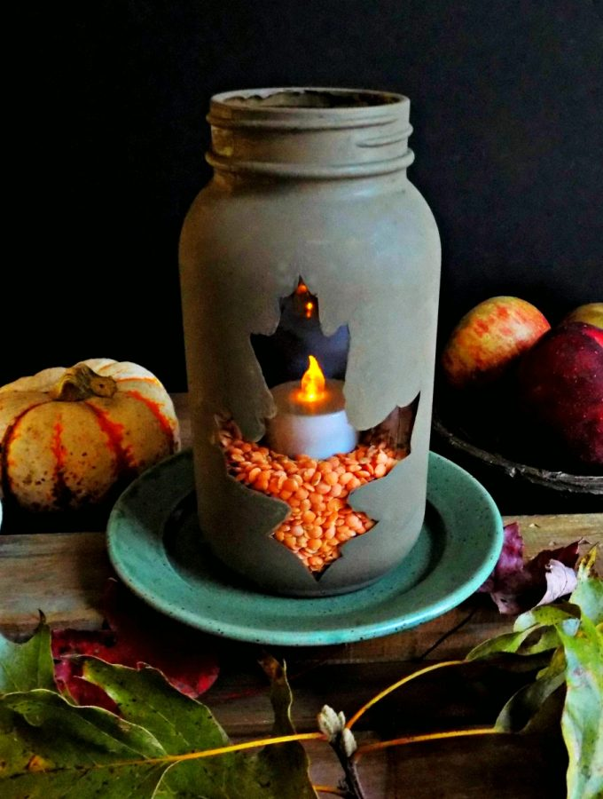 Seasonal Living - Make a Fall Lantern