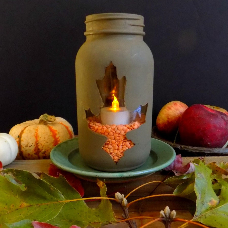 DIY Cozy Fall Lantern
