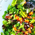 Autumn Butternut Squash Salad with Bacon and Maple Vinaigrette