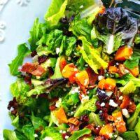 Autumn Butternut Squash Salad with Bacon and Maple Vinaigrette