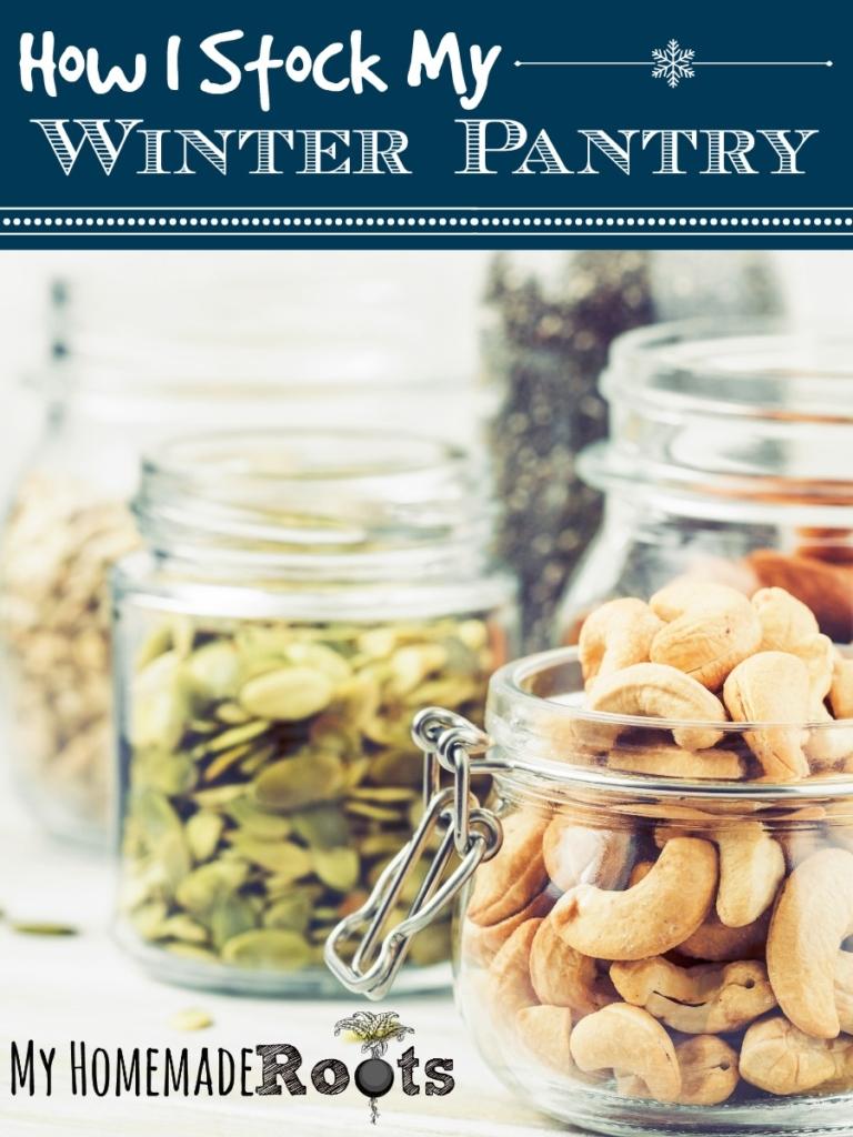 Jars of Pantry Ingredients for Winter