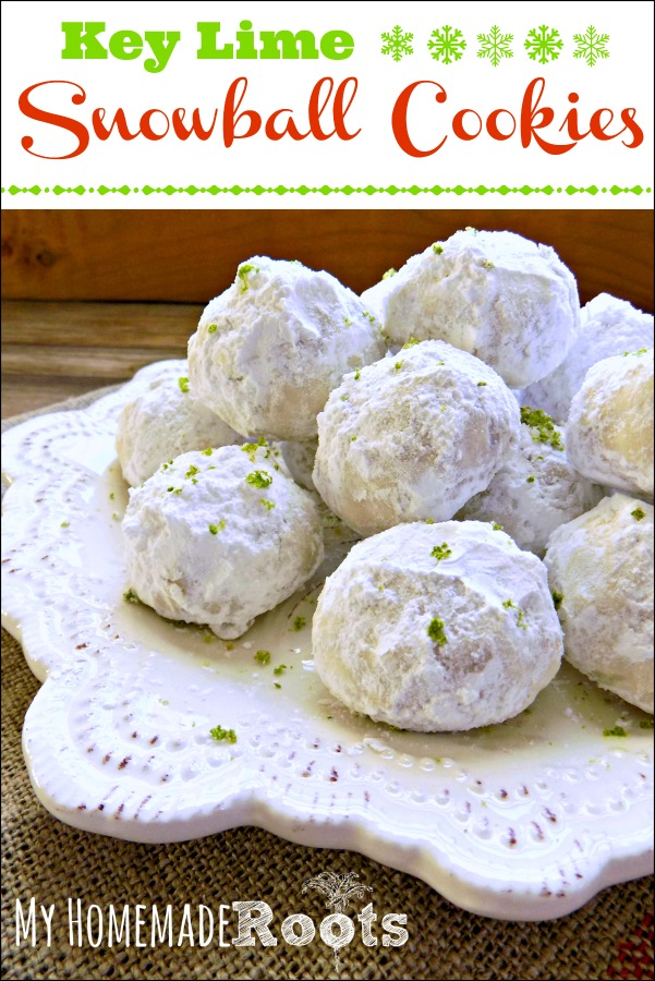 Key Lime Snowball Cookies are a tropical twist on a holiday classic.