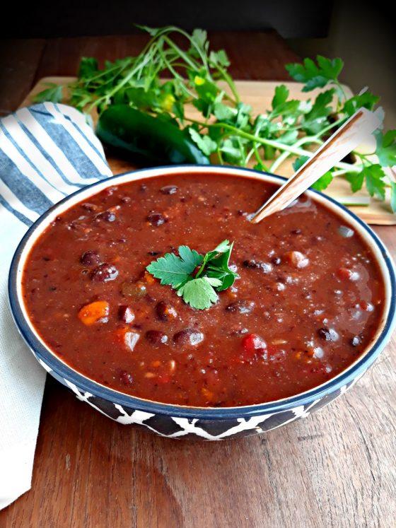 Zesty Black Bean Soup - easy, healthy, vegan