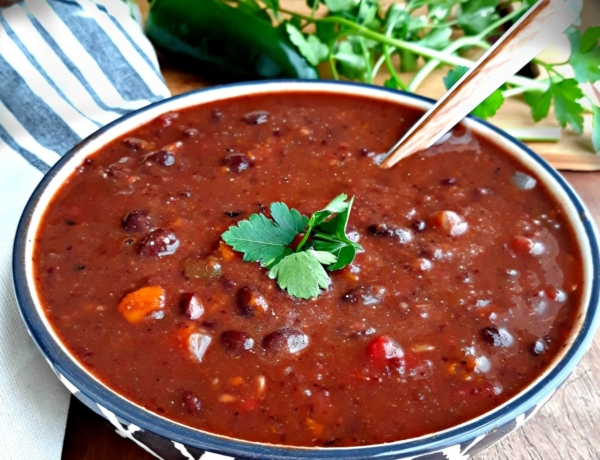 Zesty Black Bean Soup - easy, healthy, vegan