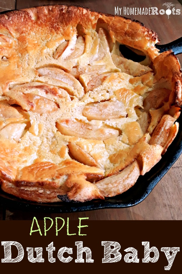 Apple Dutch Baby - A Puffy Pancake Baked in the Oven. Perfect for Breakfast, Lunch, or Dinner.