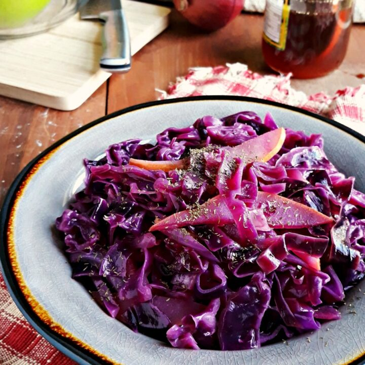 Braised Red Cabbage with Pears