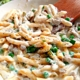 Creamy Turkey Pasta with Peas