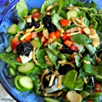 Blackberry and Baby Greens Salad