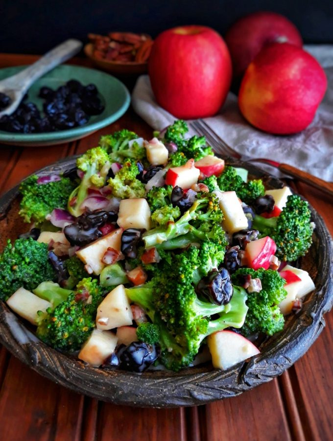 Broccoli Salad with Cherries and Pecans