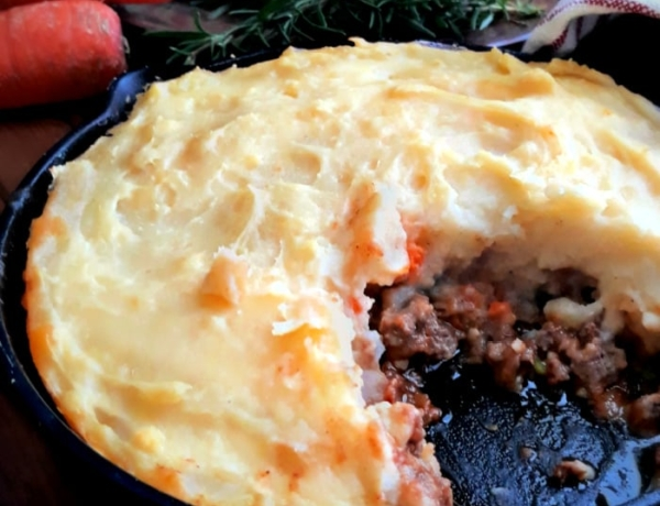 A Pan of Homemade Cottage Pie