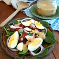 Spring Greens with Hot Bacon Dressing