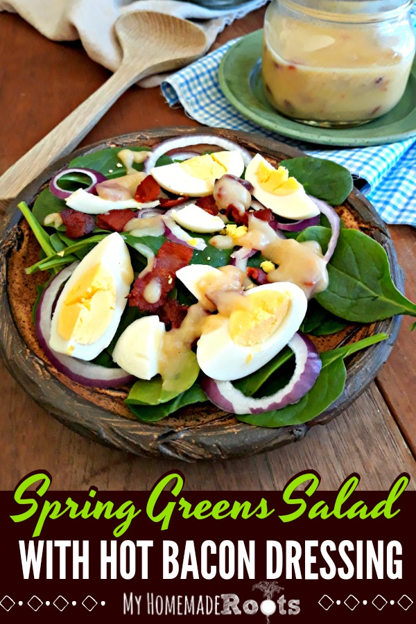 Spring Greens Salad with Hot Bacon Dressing