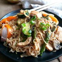 A Steamy Bowl of Thai Chicken Peanut Noodles