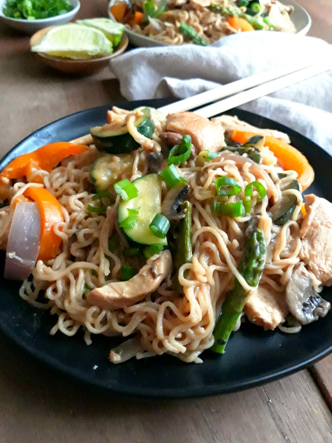 A Steamy Bowl of Thai Chicken Peanut Noodles