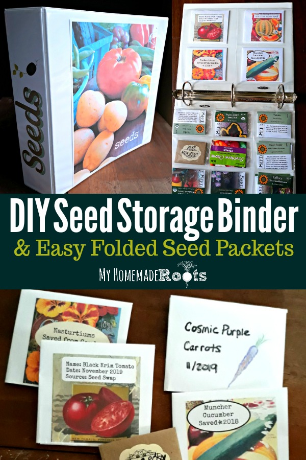 Seed Storage Binder and Folded Seed Packets