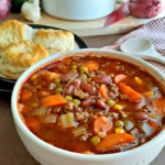 Big Batch Country Beef Vegetable Soup Freezer Meal