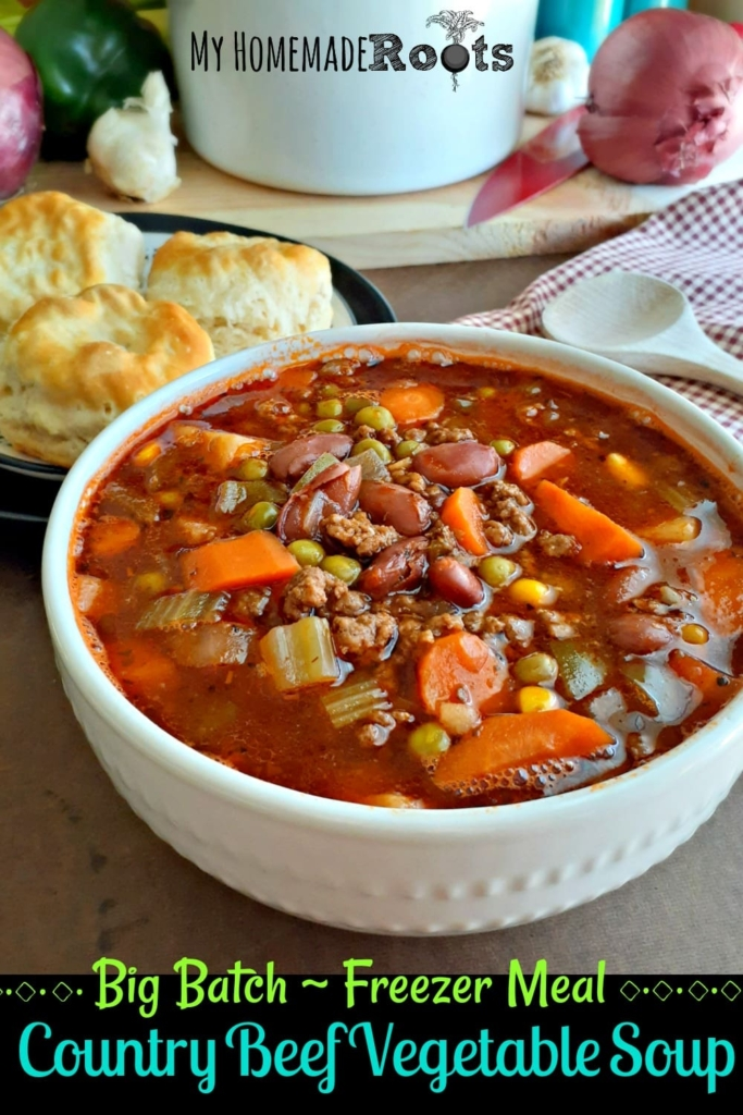 Country Beef Vegetable Soup Freezer Meal