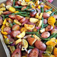 Sheet Pan Sausage and Summer Vegetables