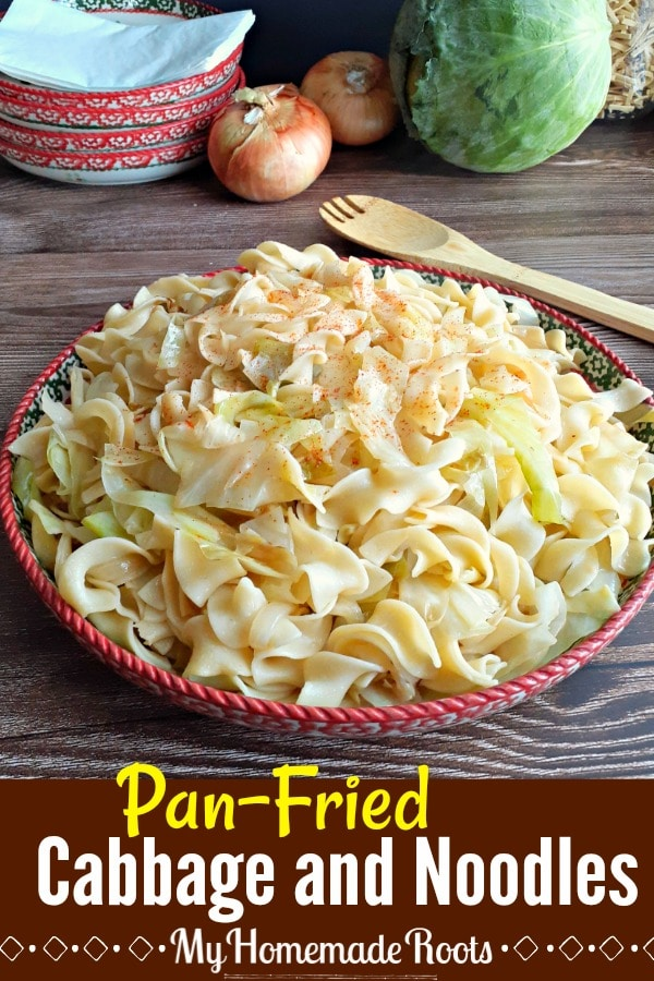Fried Cabbage and Noodles (Haluski)