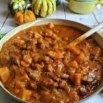 Autumn Harvest Beef Stew in Dutch Oven
