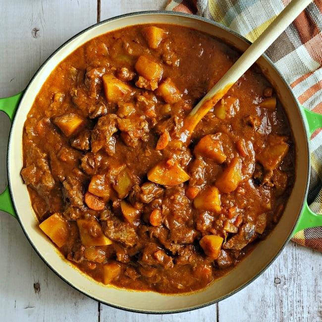 Pot of Autumn Harvest Beef Stew